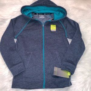 NEW Tek Gear Kids Blue Fleece Zip  Sweatshirt  8